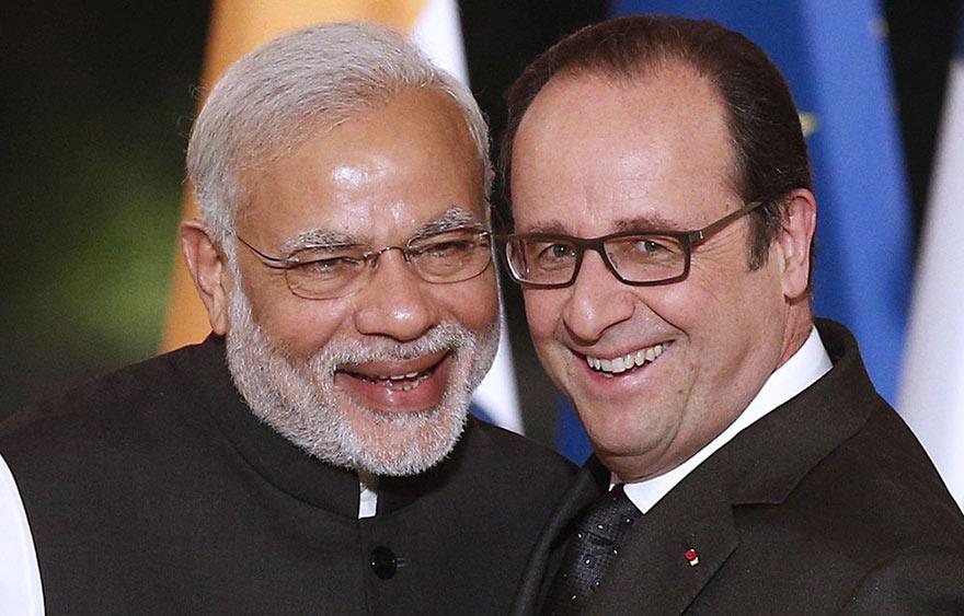 Narendra Modi et François Hollande