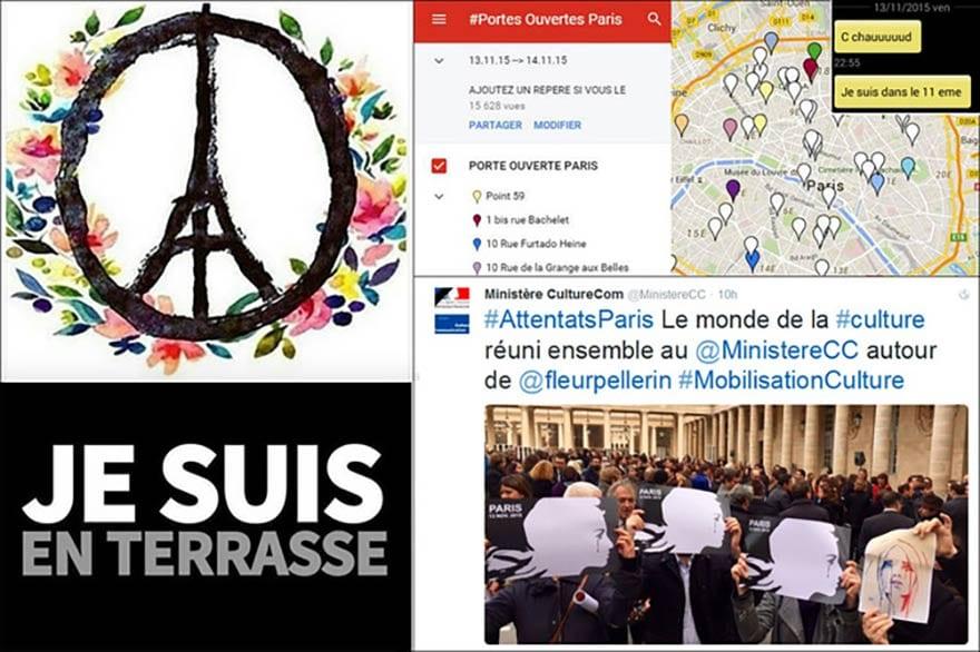 Réseaux sociaux attentats Paris