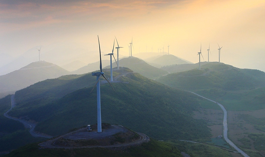 wind turbines in China
