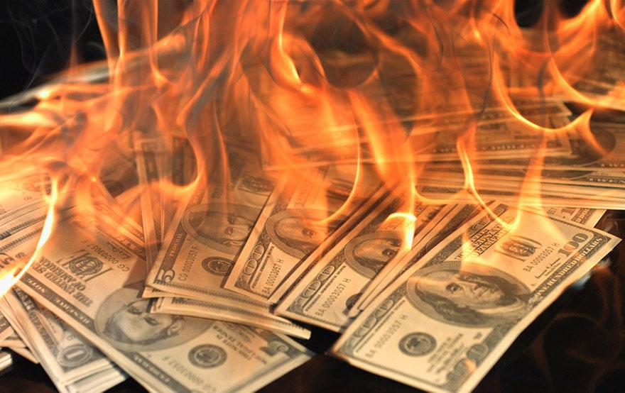 Uber cash burning