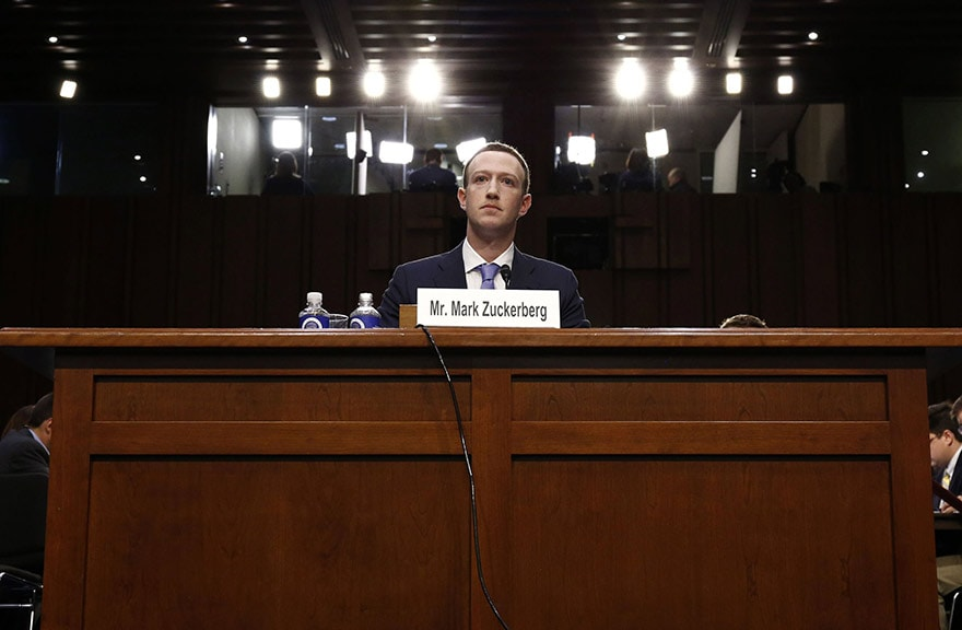 Zuckerberg hearing in the US Senate