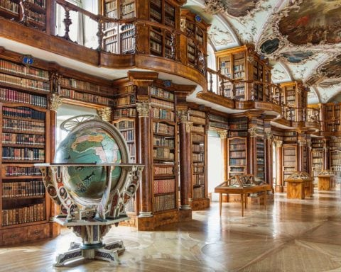 Library of l'St. Gallen Abbey (Switzerland)