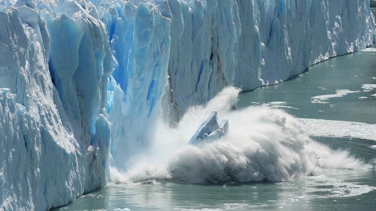 Fonte de l'Antarctique et montée des eaux