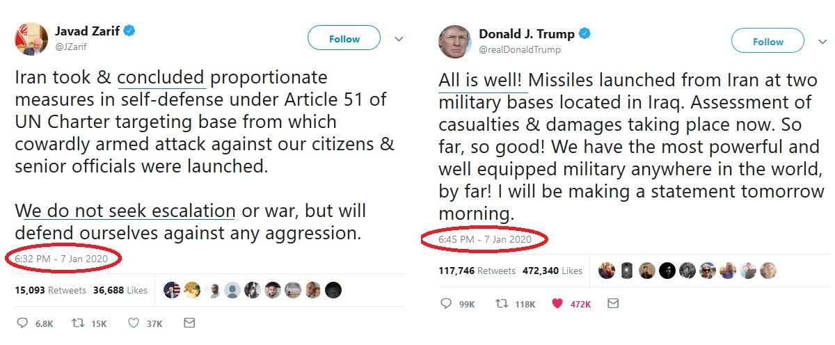 Twitter évite la guerre ?