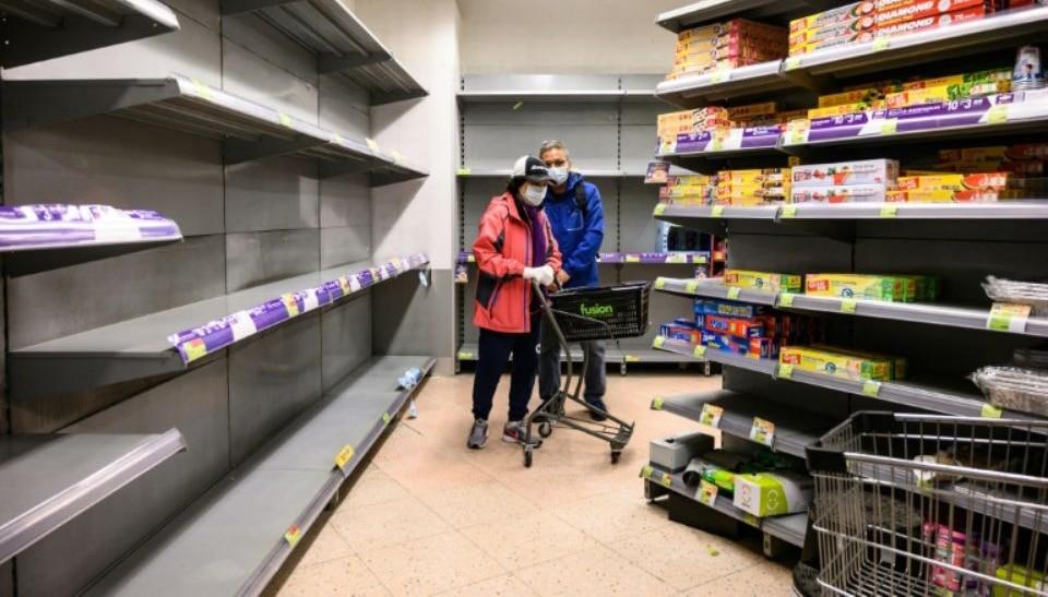 coronavirus- Ruée vers les supermarchés