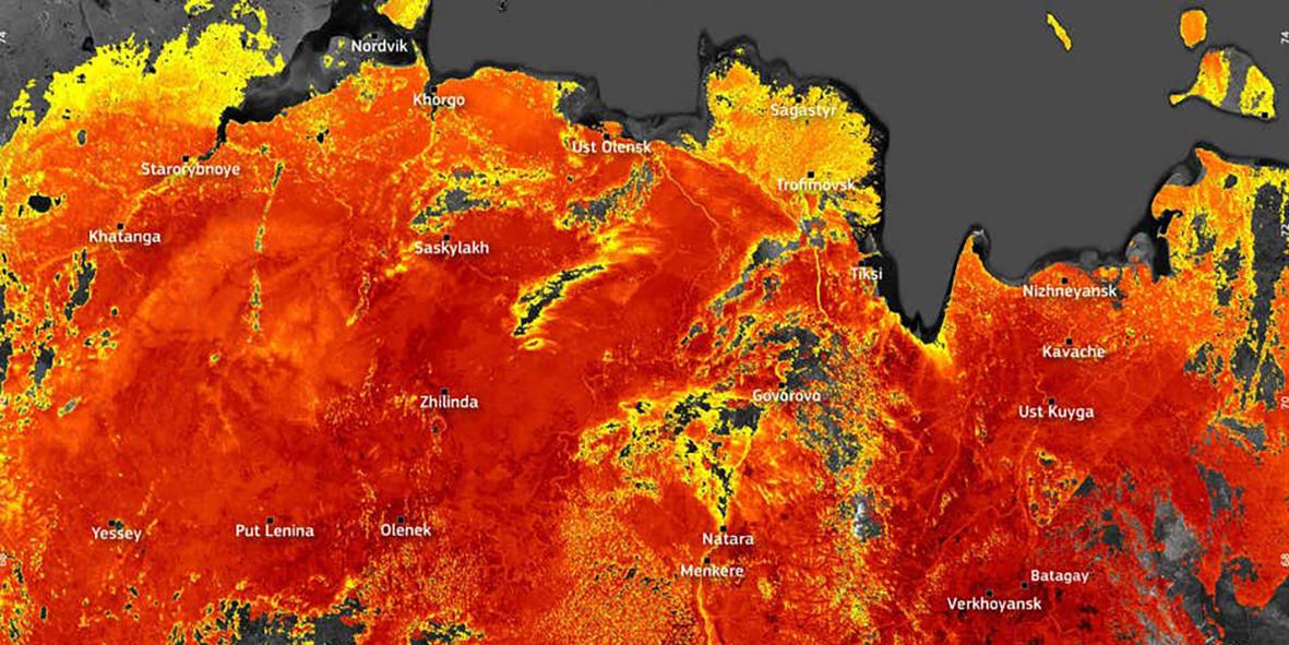 Les températures atteignent 48°C dans le cercle Arctique