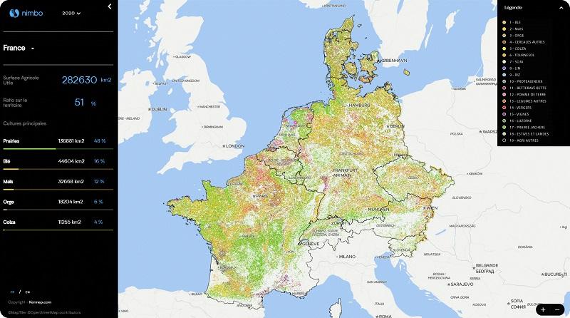 L'imagerie satellite met le spatial et l'Intelligence Artificiel au service de la filière agricole