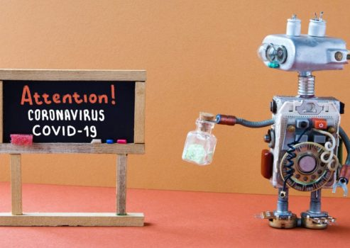 robots versus covid